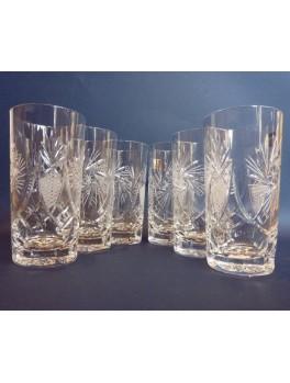 Szklanki wysokie kryształowe - zestaw