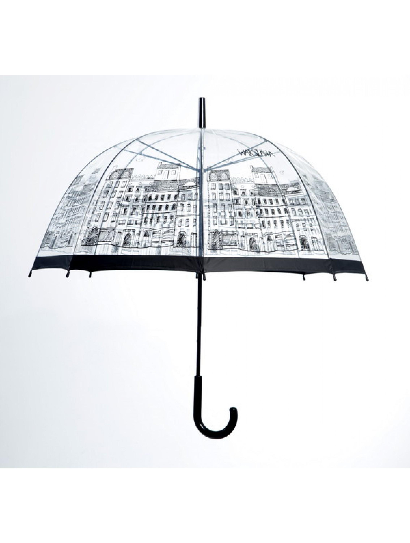 Parasol z motywem Warszawy.