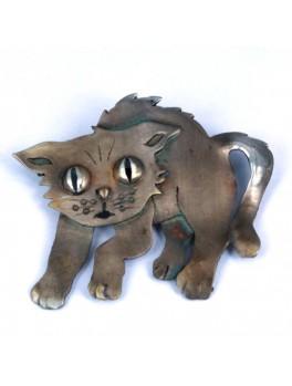 Broszka- kotek