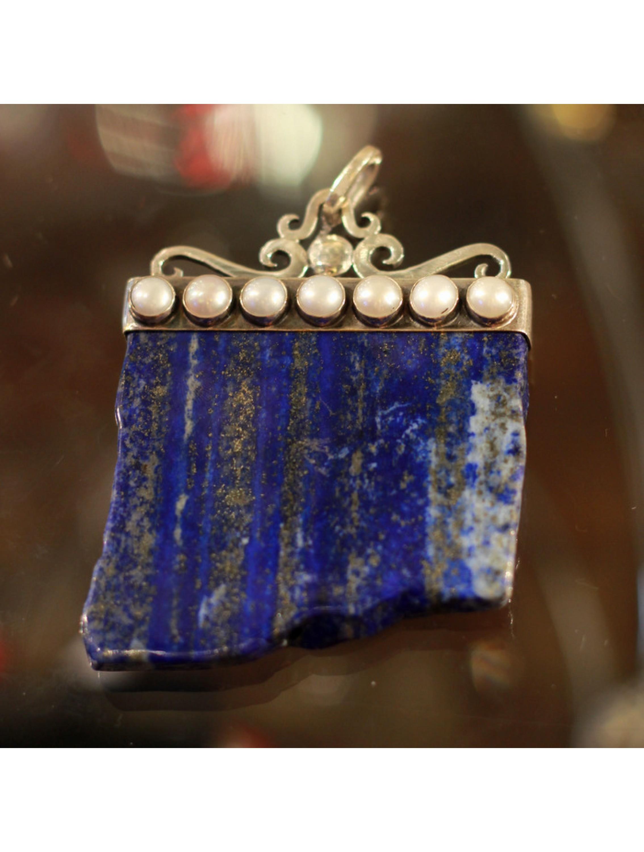 Wisior z lapisem lazuli