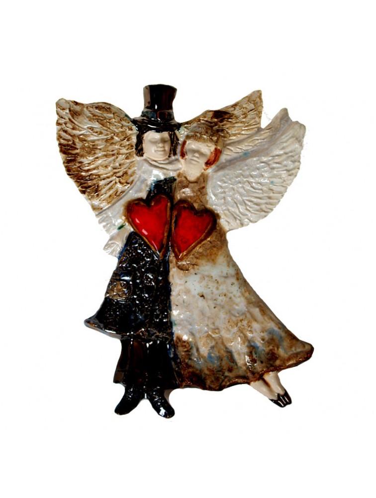 Ceramiczna Para Aniołów