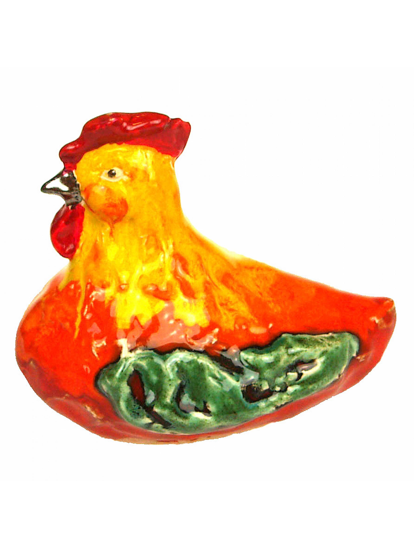 Kura ceramiczna mała - żółta