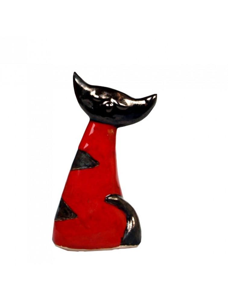 Ceramiczny Czerwony Kot