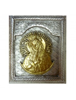 Ikona posrebrzana mała - Matka Boska Ostrobramska