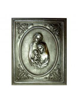 Ikona posrebrzana - Święta Rodzina