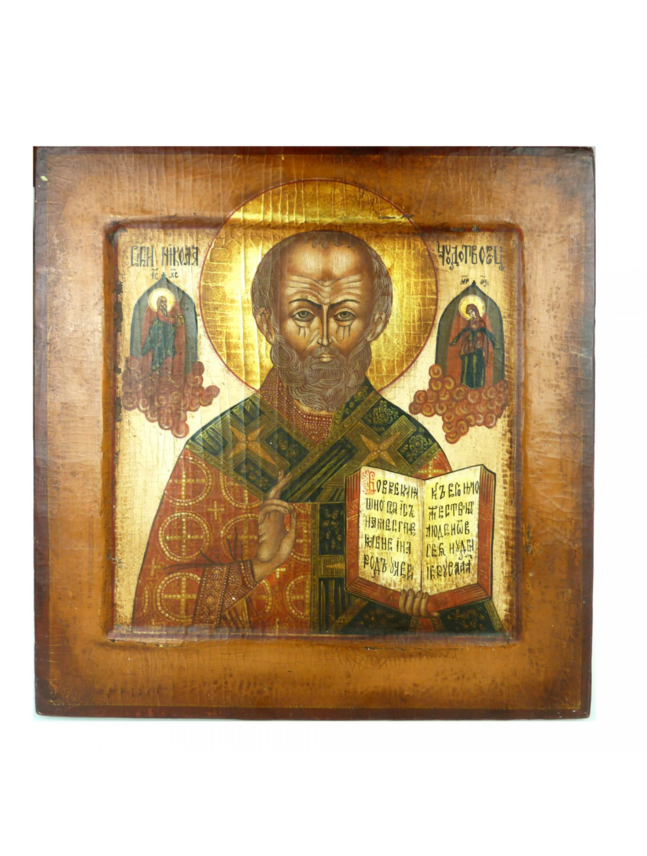 Ikona na desce - Św. Mikołaj