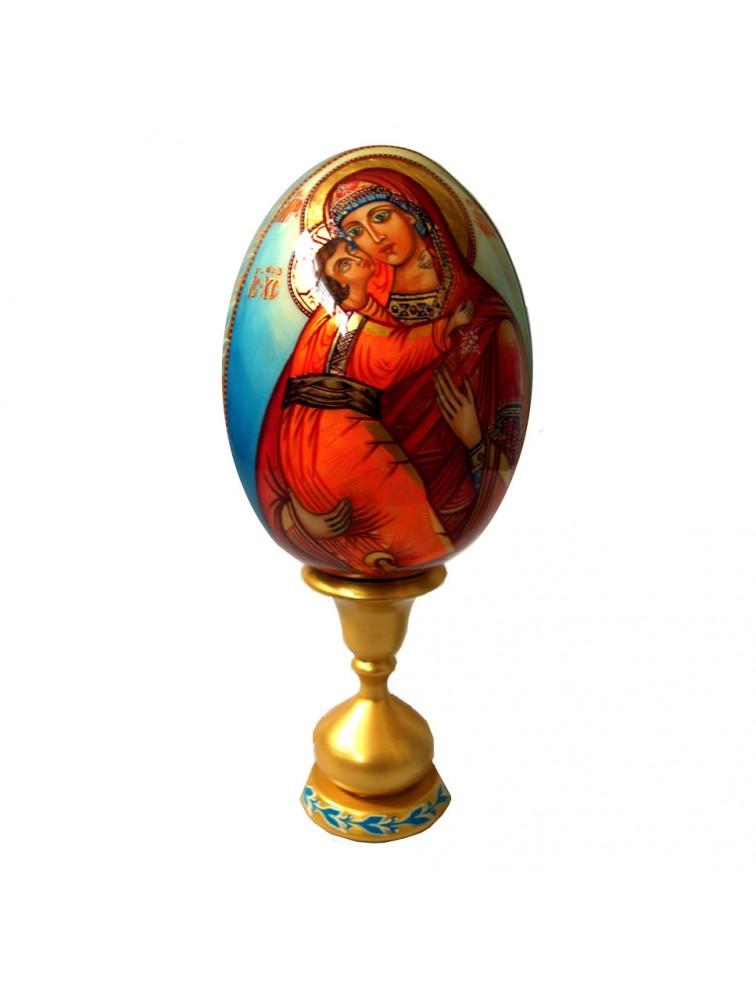 "Oleg Potocki  - ""Matka Boska"" jajko drewniane"