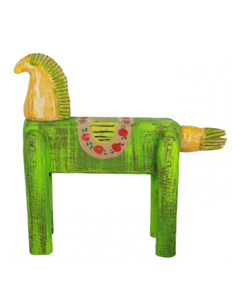 Rzeźba - zielony koń