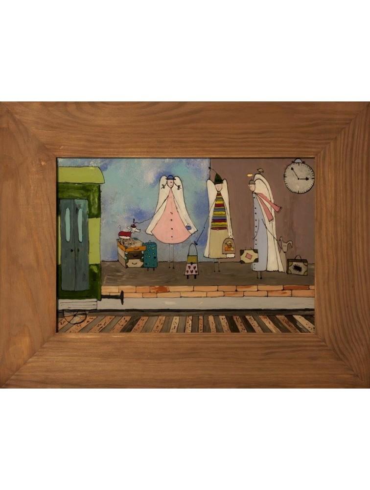 """""""W podróży"""" - obraz na szkle malowany"""