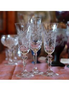 Kieliszki kryształowe do szampana - zestaw