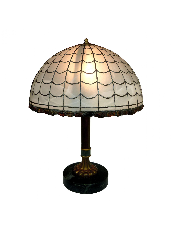 Lampa  z bursztynami