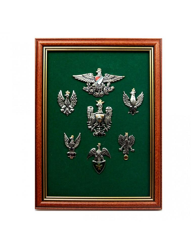 Zestaw miniatur Odznak Wojska Polskiego