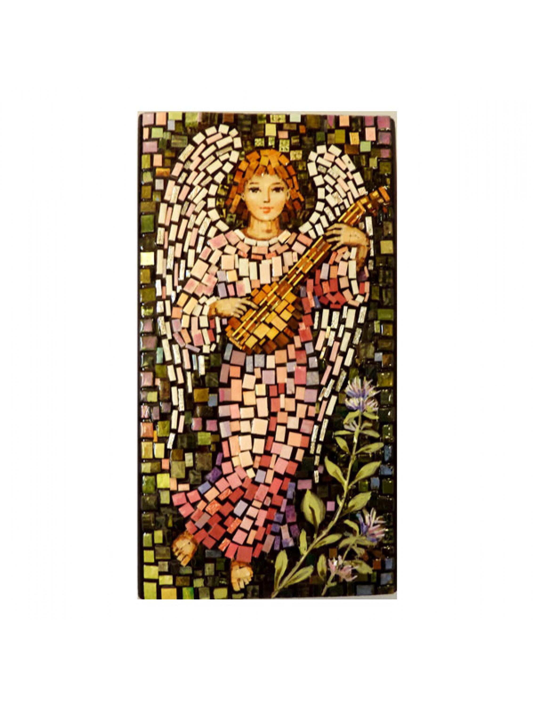 Aniołek z mandoliną - mozaika