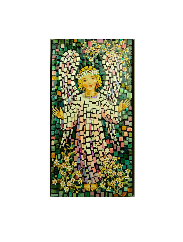 Aniołek w różowej szatce - mozaika