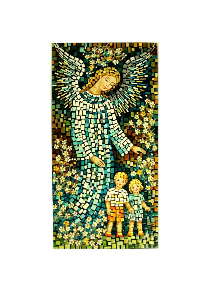 Anioł Stróż z dziećmi - mozaika