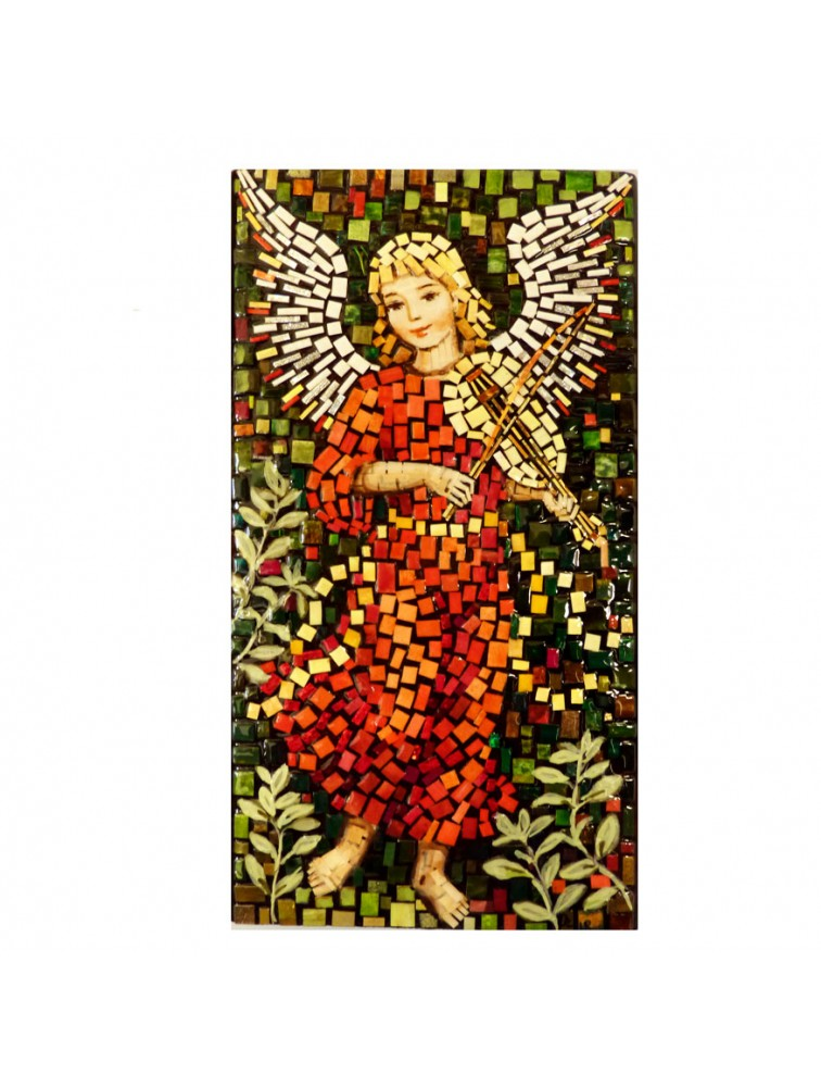Aniołek z skrzypcami - mozaika