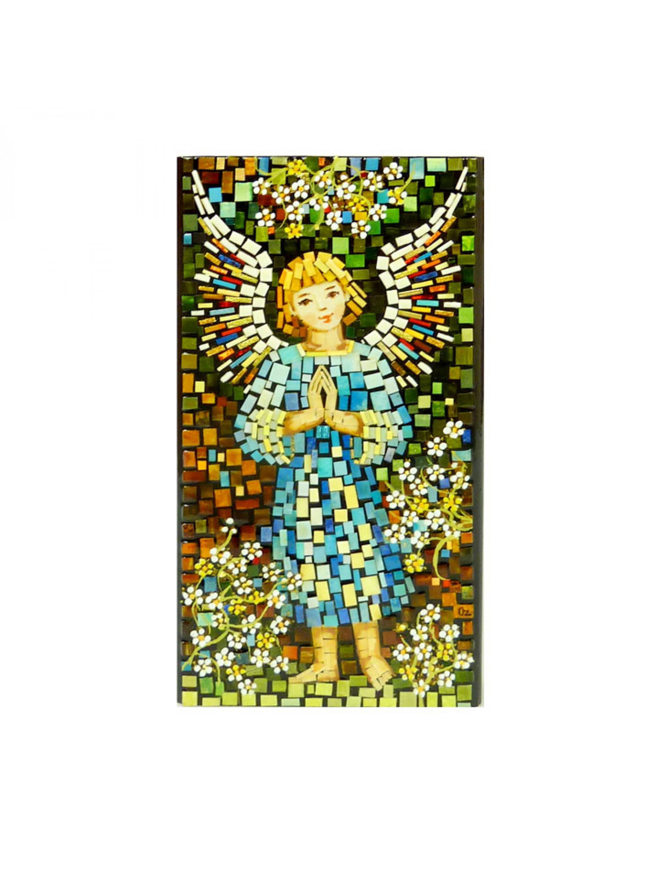 Aniołek  w niebieskiej szatce - mozaika