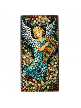 Aniołek z lirą  - mozaika