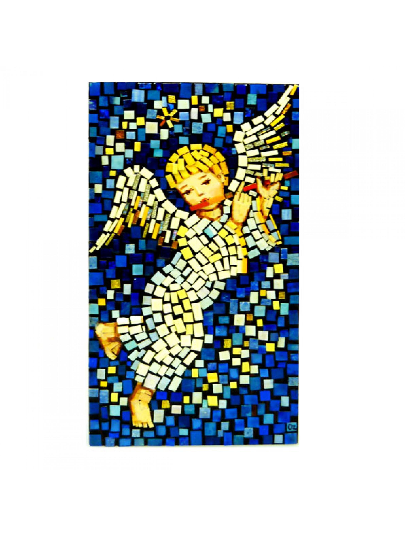 Aniołek z fletem - mozaika