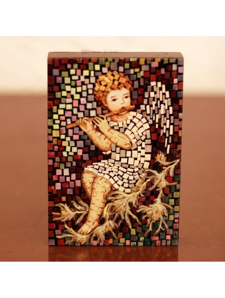 Anioł z fletem - mozaika