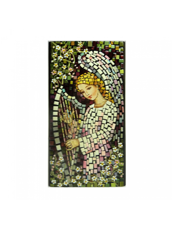 Aniołek z harfą - mozaika