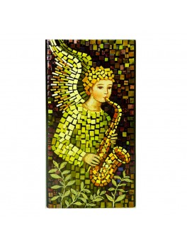Aniołek z skasofonem - mozaika