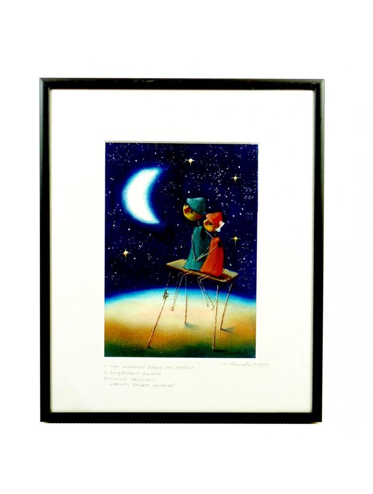 I tak siedzieć sobie po prostu, z księżycem gadać, gwiazdy oglądać, nogami razem machać.
