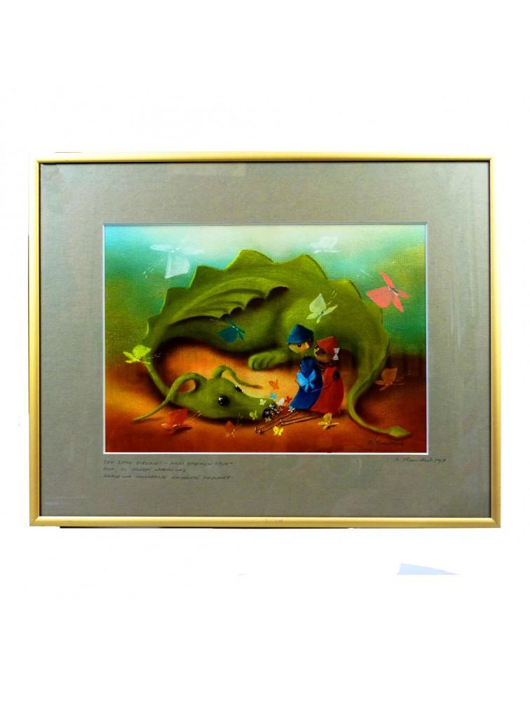 Ten smok zielony - nasz opiekun czuły dba, by zawsze wokół nas marzenia kolorowe radośnie fruwały