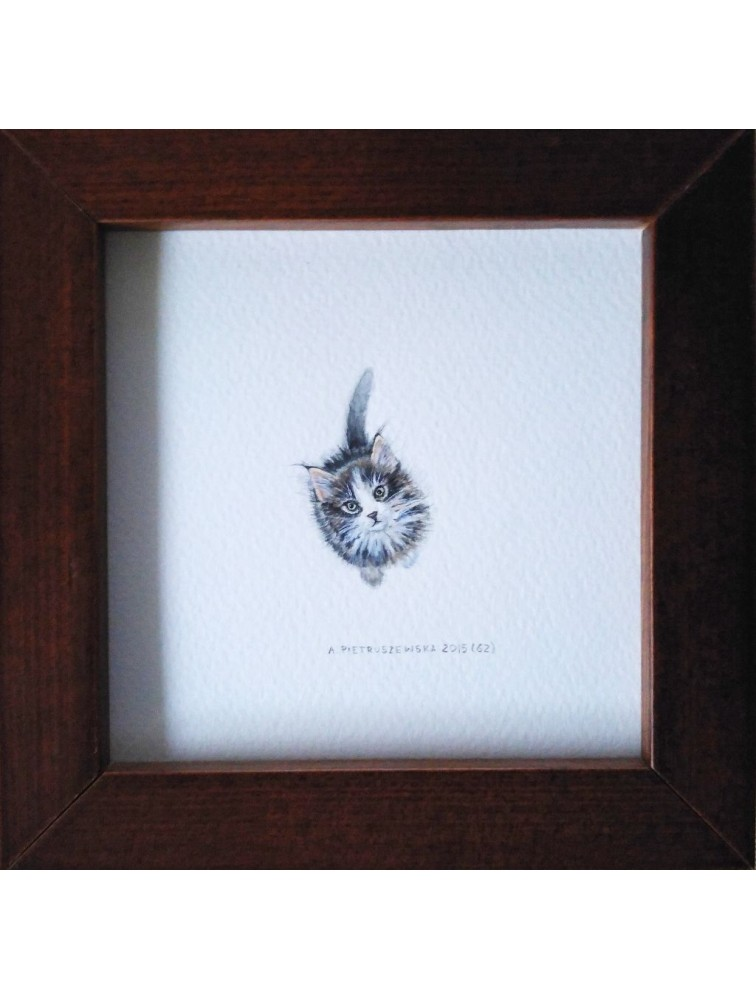 Agnieszka Pietruszewska - Miniatura z kotem