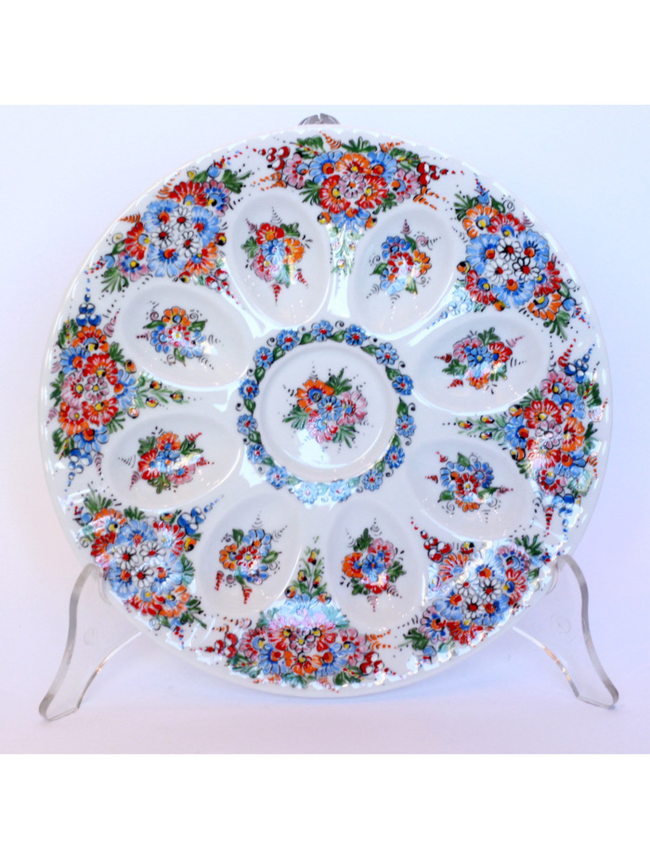 Talerz na jajka - opolska porcelana