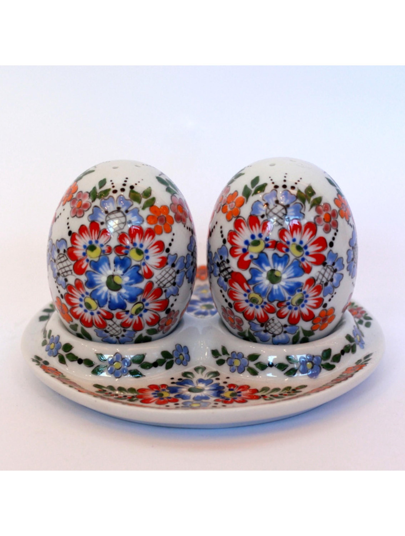 Zestaw na sół i na pieprz- porcelana opolska