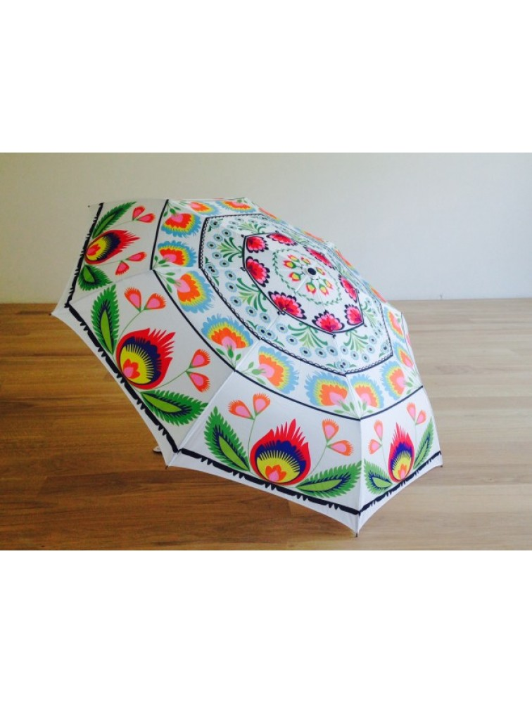 Składany parasol z motywem ludowym