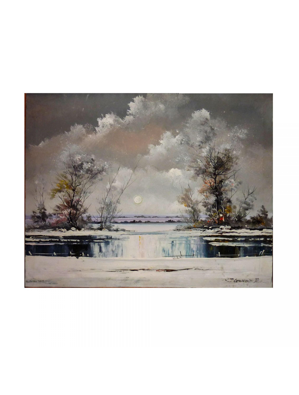 Pejzaż zimowy - Janusz Cetnarowski